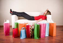 exhausted shopper