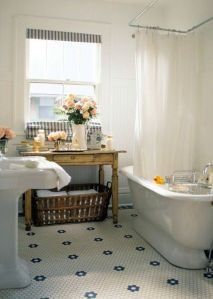 Antique furniture in bathroom