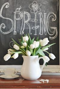 Chalkboard Spring display