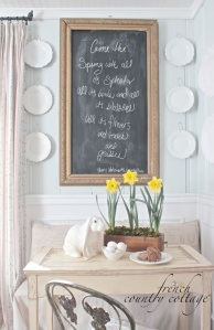 Chalkboard in dining room