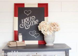Chalkboard Valentine idea