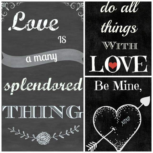 Valentine Chalkboard Printables