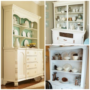 Dining room hutch collage
