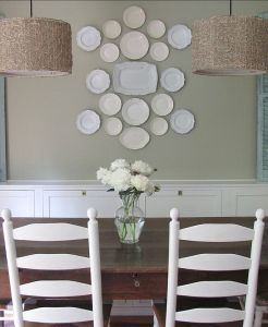 Dining room plates hung