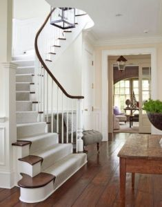 Entryway staircase runner