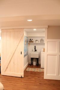 Barn doors laundry closet
