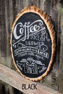 Chalkboard coffee bar art