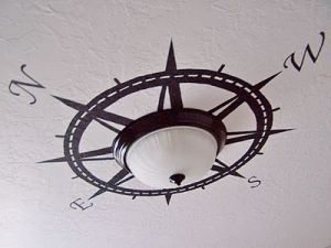 Compass around light fixture