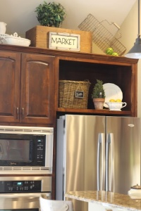 Decor on kitchen cabinets