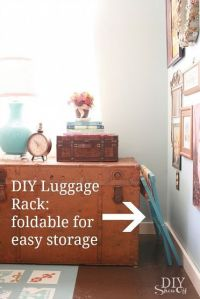 DIY foldable luggage rack