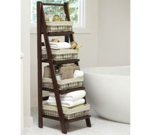 Ladder shelf spa accessories