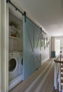 Laundry barn doors