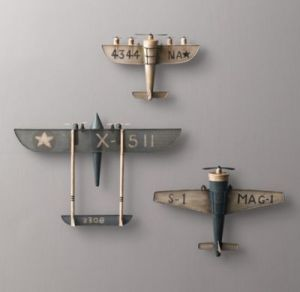 Planes on wall