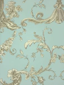 Powder room wallpaper vintage