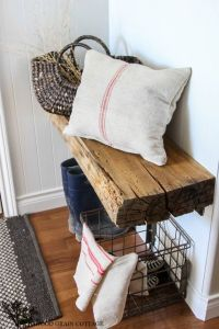 raised ranch entry way bench