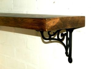 Rustic wood shelf
