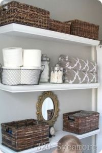 Shelving in powder room