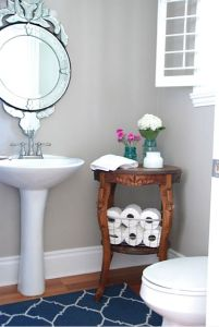 Small table powder room