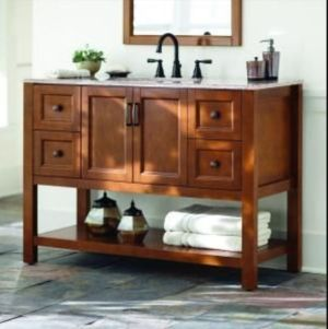 Vanity for basement bath