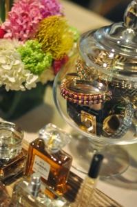 Vanity perfume and bangles