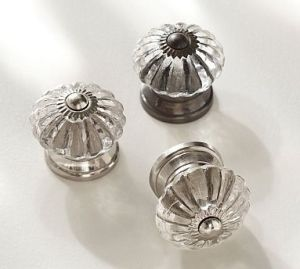 Vintage mercury glass drawer knobs