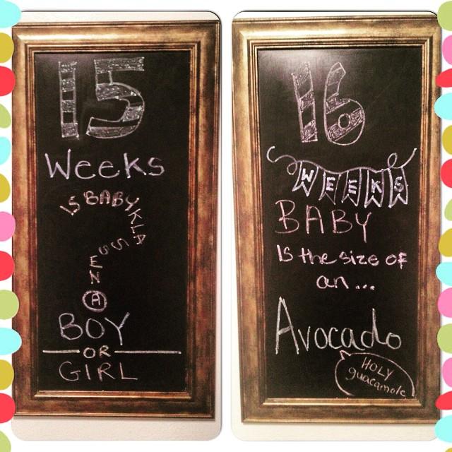 15&16 weeks chalkboard