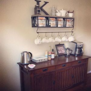 Coffee station dining room