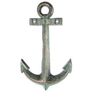 Green & Gold Cast Iron Anchor
