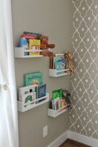 Such a cute idea for forward facing childrens books. http://www.ikea.com/ca/en/catalog/products/40070185/ - $6.99