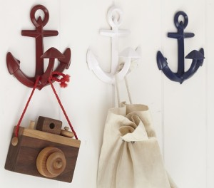 I think I would get 3 navy or 3 white. Perfect for mounting under a floating shelf, and for hanging a few outfits on!
