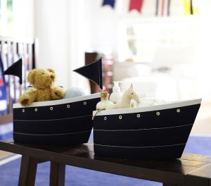 PB Fabric Sailboat Changing Table Storage - $39