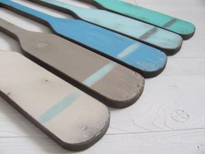 A turquoise striped oar would look so perfect hung above Baby K's crib. Etsy - $25